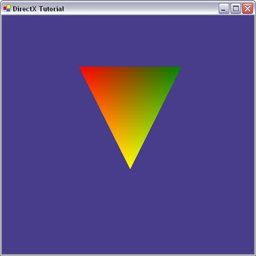 DirectX Tutorial 3 - Drawing a triangle