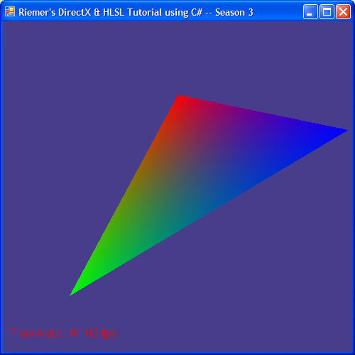 DirectX Tutorial 4 - Shaded triangle