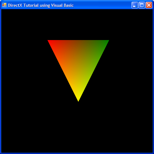 DirectX 9 Tutorial using C#, C++ and Visual Basic > The first triangle