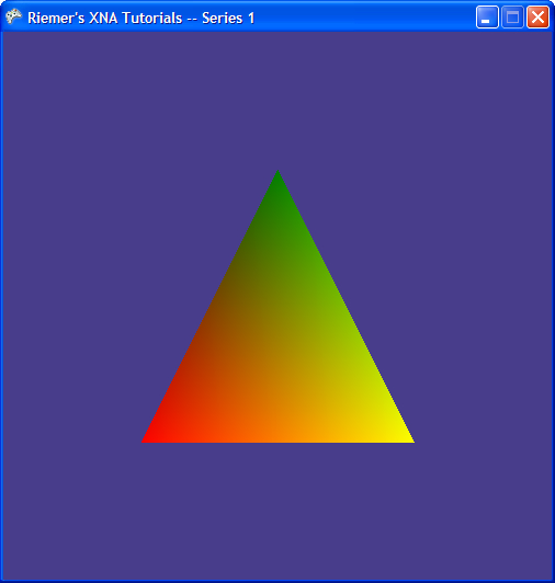 DirectX Tutorial 3 - The first triangle